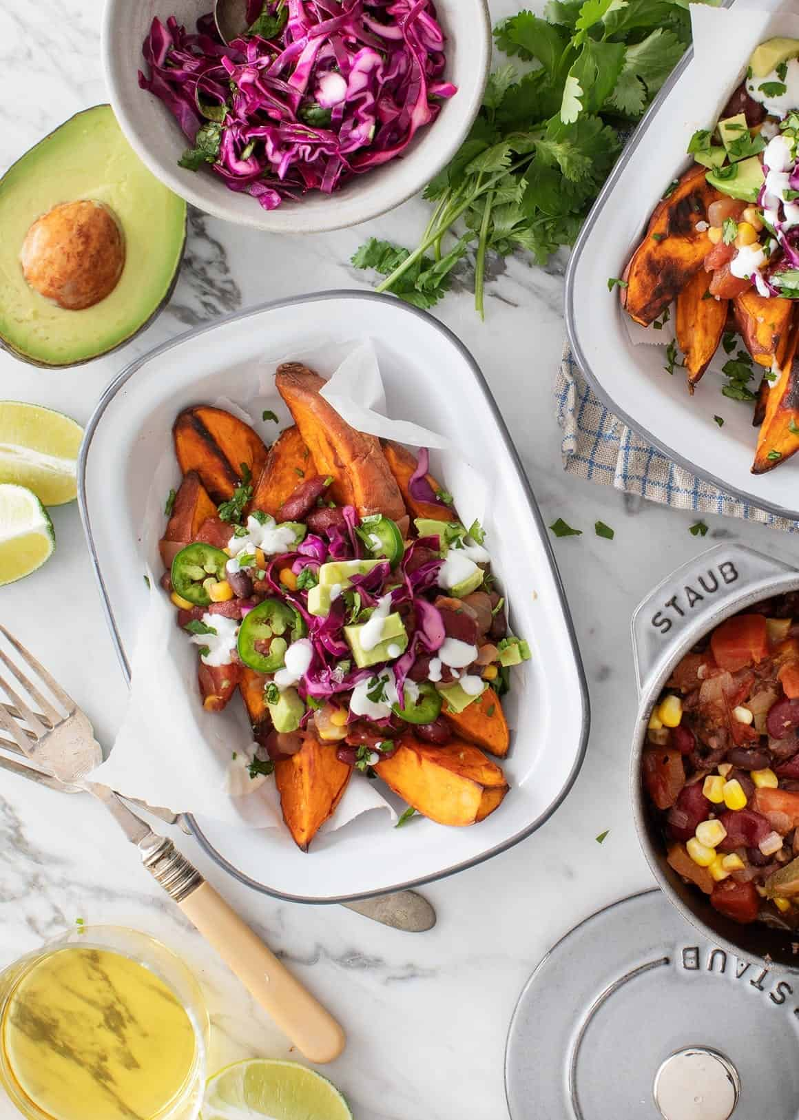 Healthy Game Day Recipes - Sweet Potato Chili Fries
