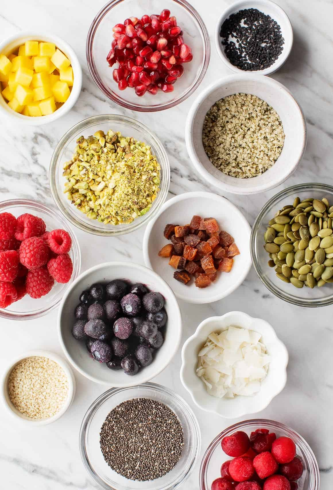 Ingredients for Overnight Oats, Many Ways