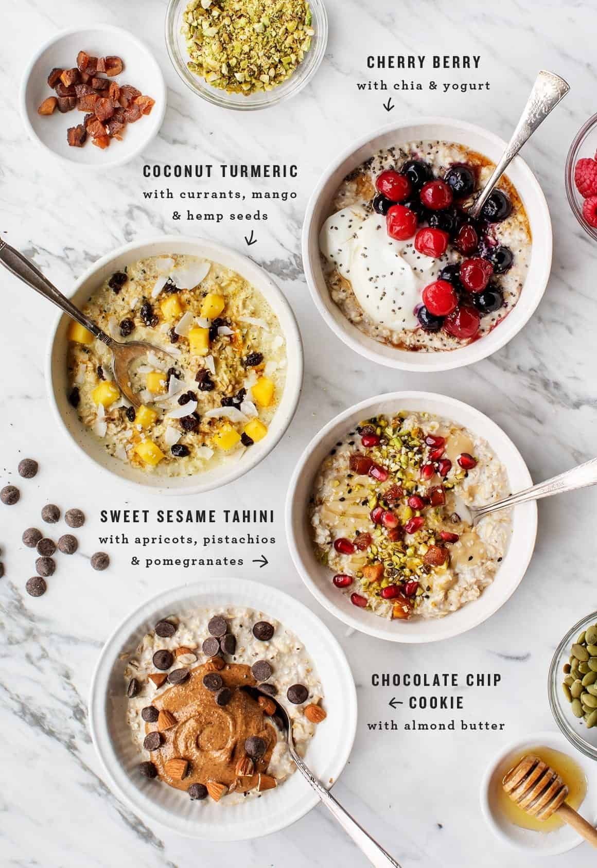 Overnight Oats Recipe, 4 ways