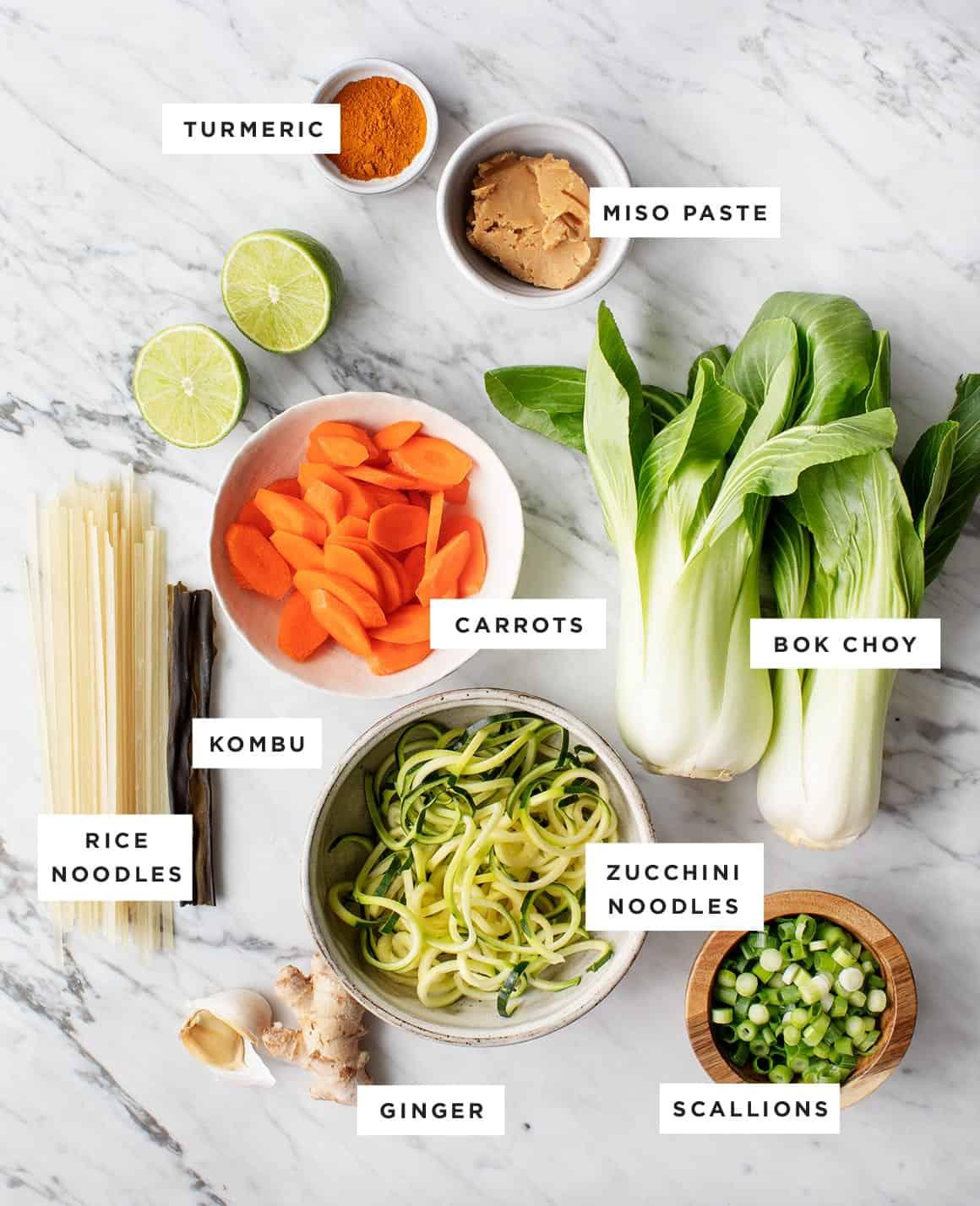 Golden Turmeric Noodle Miso Soup