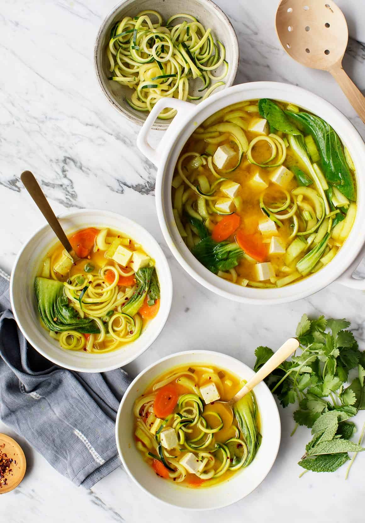 Golden Turmeric Noodle Miso Soup Recipe Love And Lemons