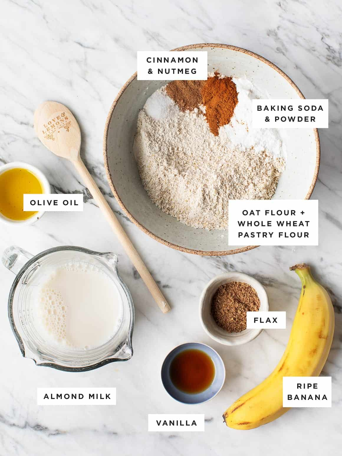 Banana Pancakes recipe ingredients