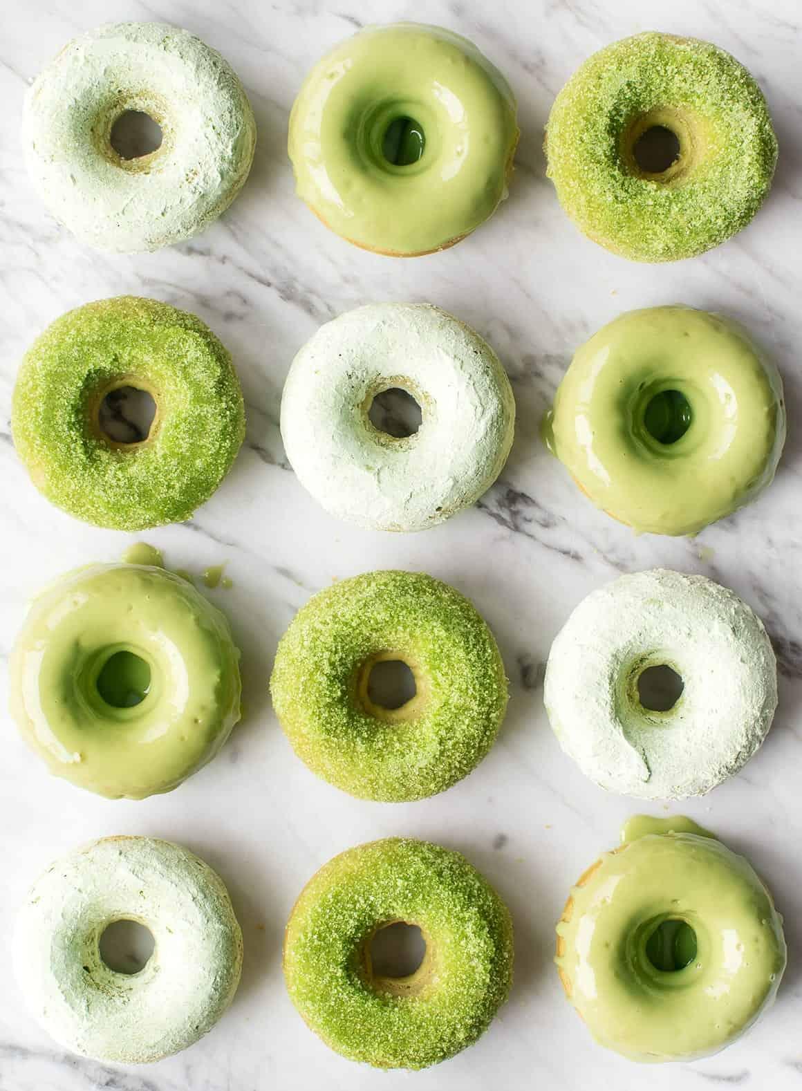 Matcha Baked Doughnuts