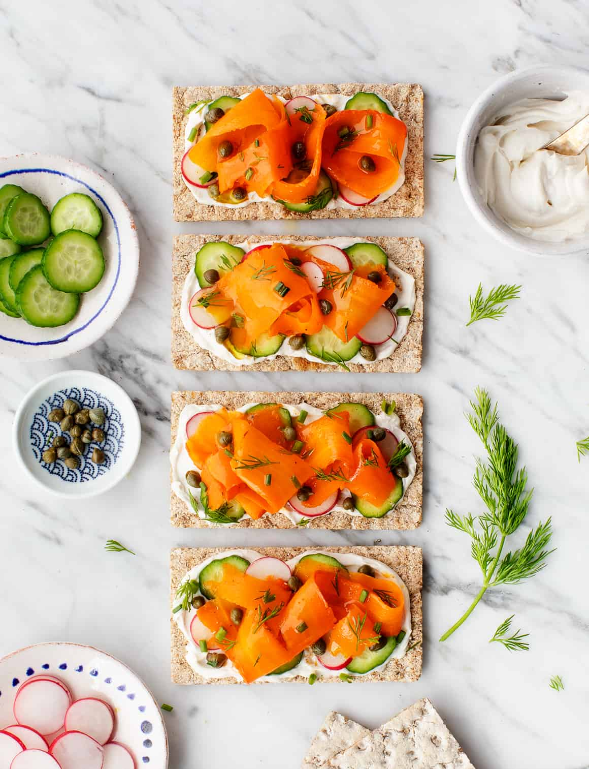 Inspired By Open Faced Danish Smrrebrd Sandwiches I Made An All Veggie Version Using Smoky Roasted Marinated Carrots Instead Of Salmon