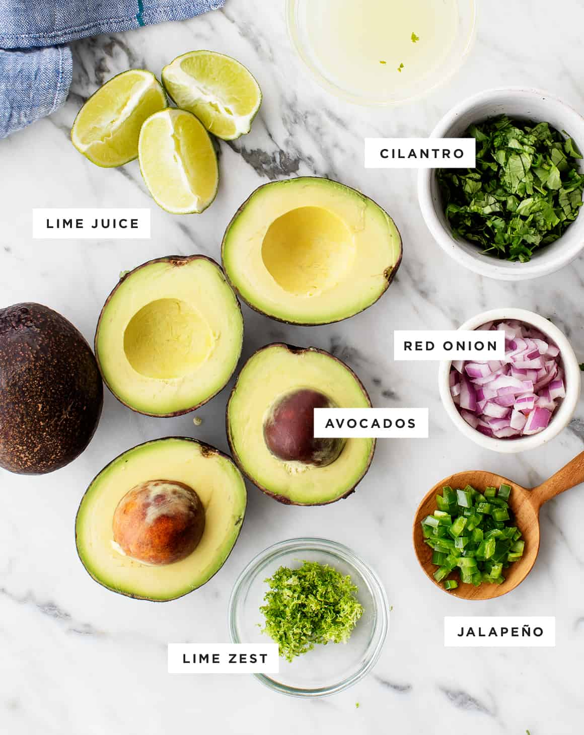Easy guacamole recipe ingredients