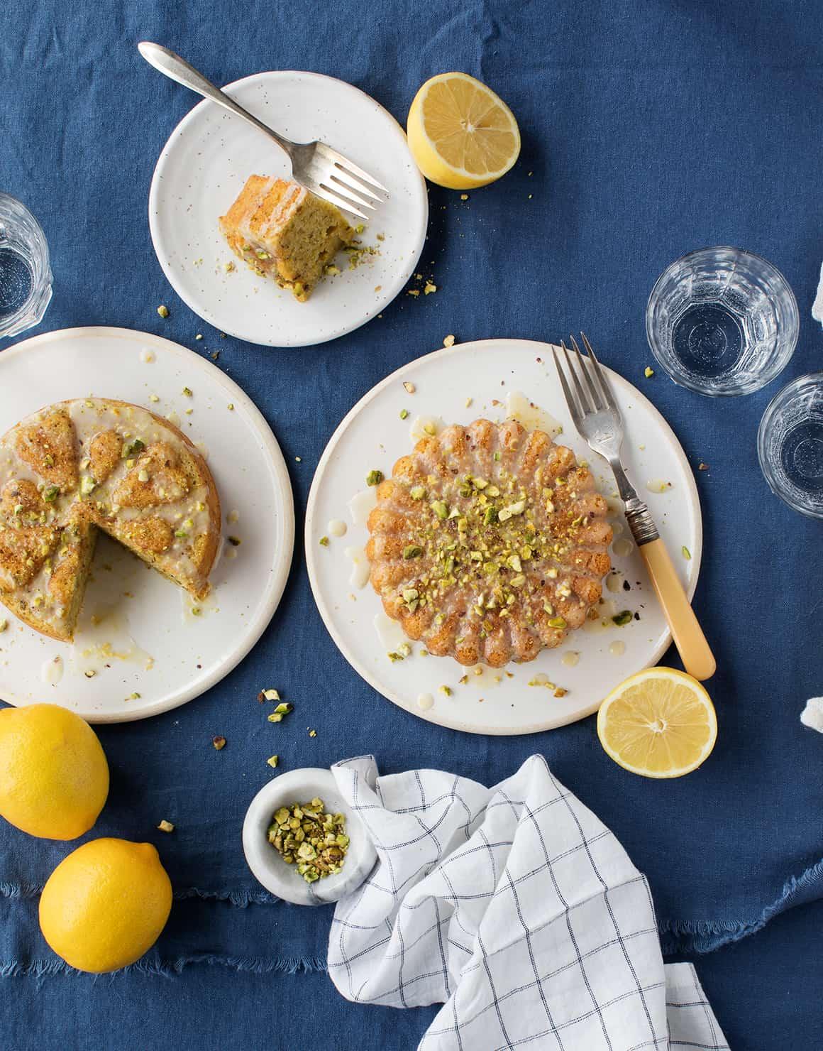 Lemon Olive Oil Pistachio Cake