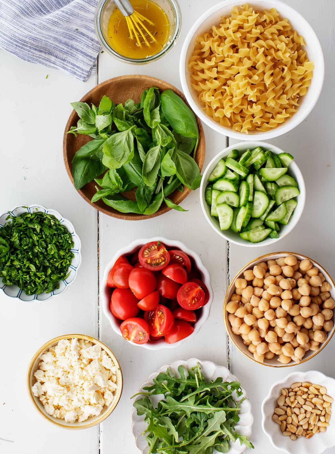 Easy pasta salad recipe ingredients