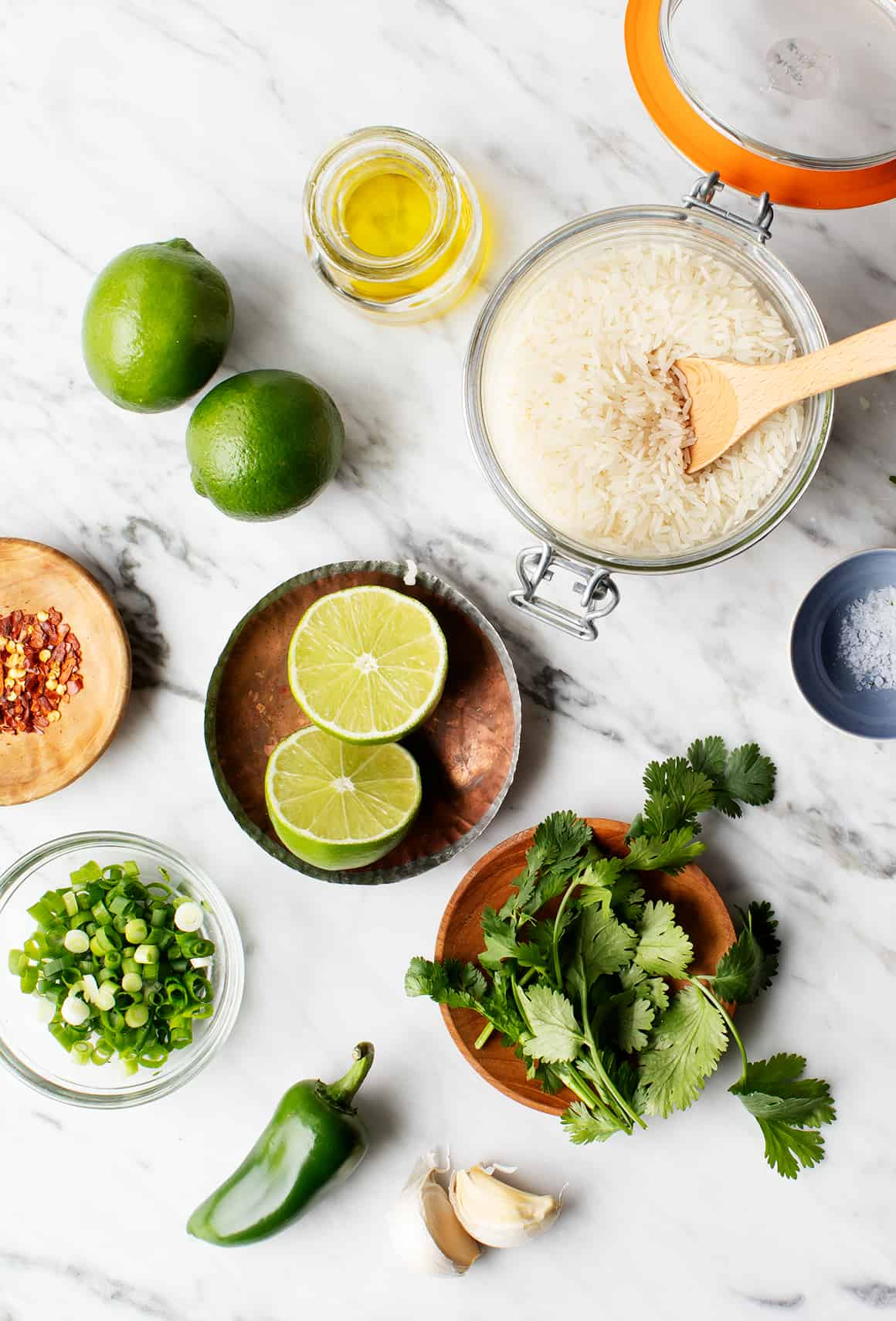 Cilantro Lime Rice Recipe Ingredients