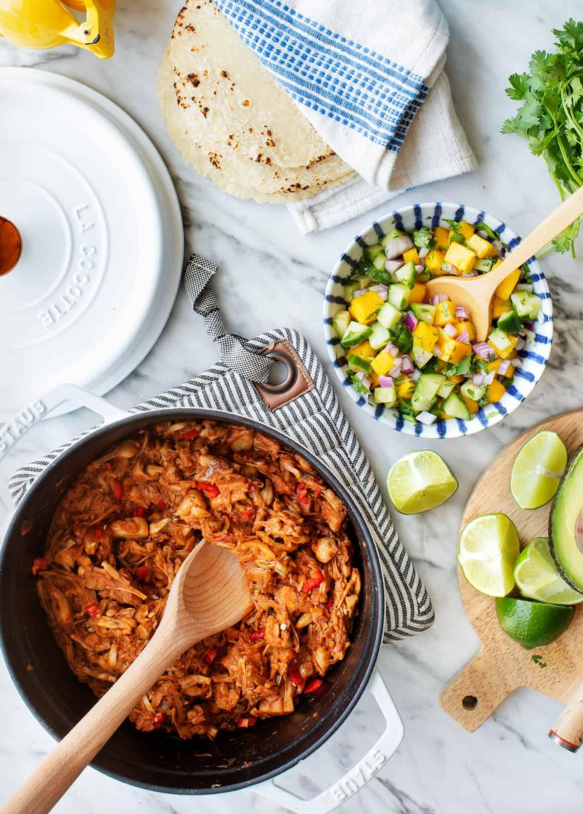 Vegan Taco Recipe Components