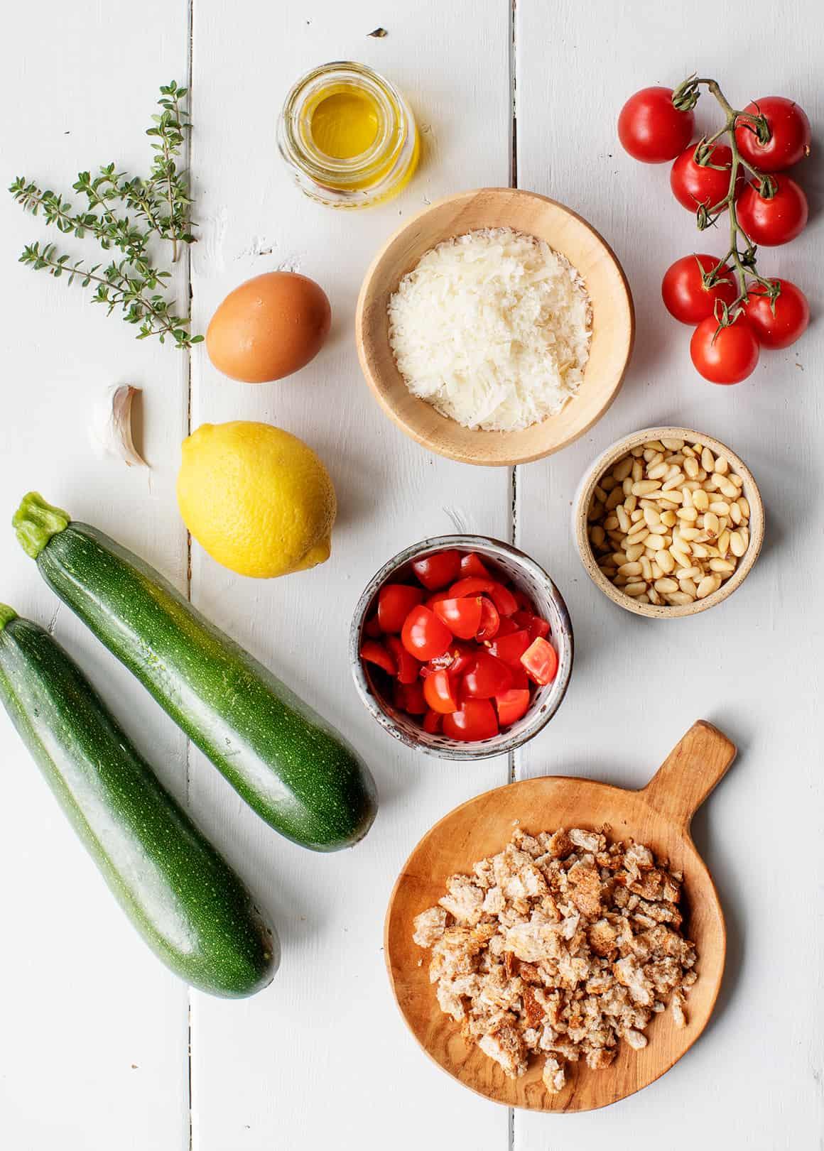 Stuffed zucchini boats ingredients