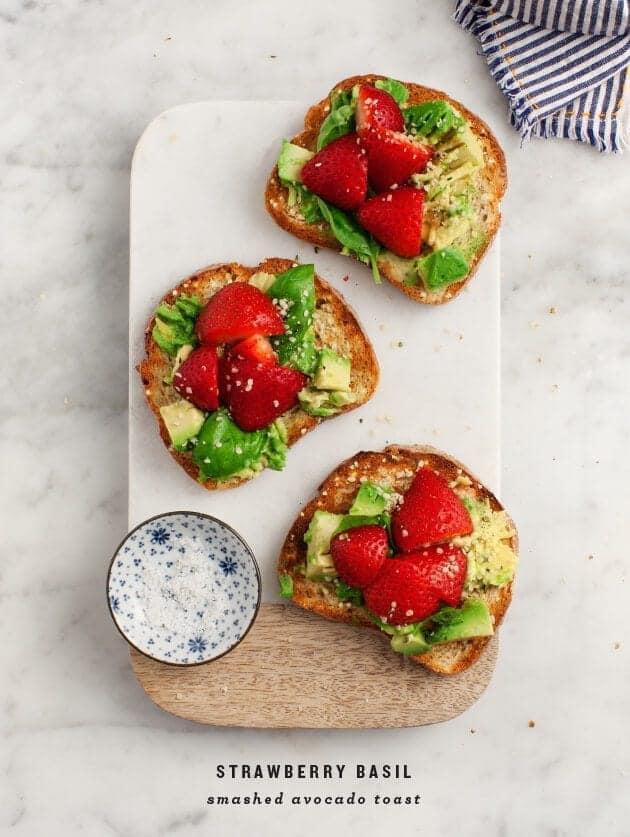 Avocado toast with basil