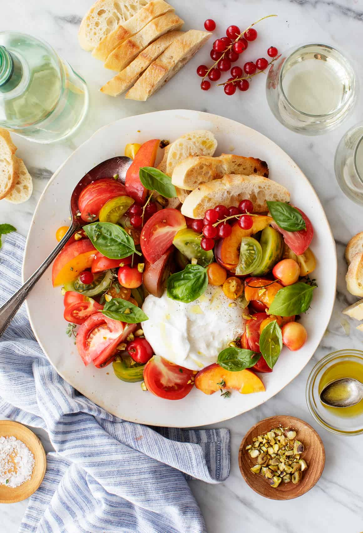 Burrata With Heirloom Tomatoes Recipe Love And Lemons