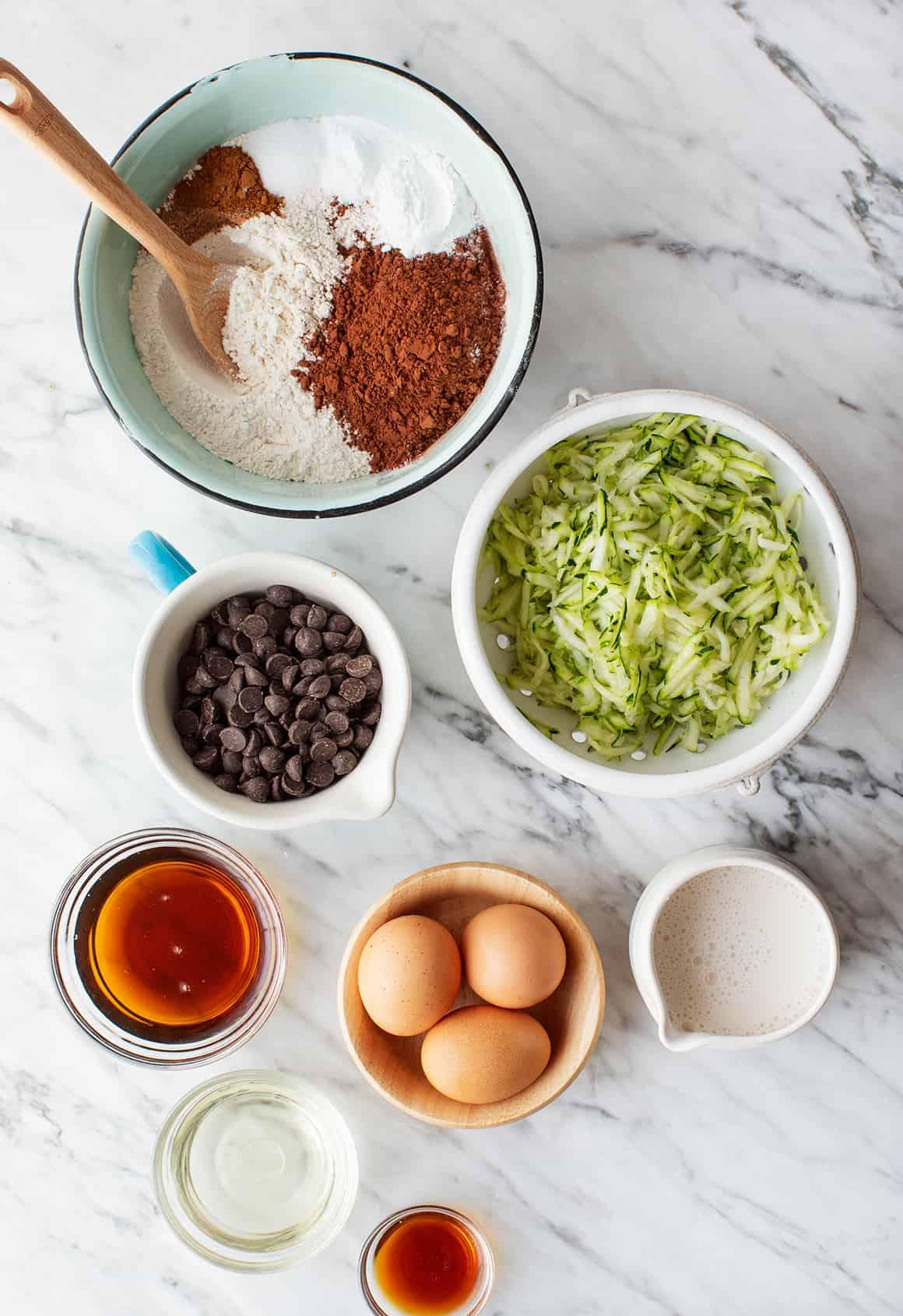 Chocolate zucchini bread recipe ingredients