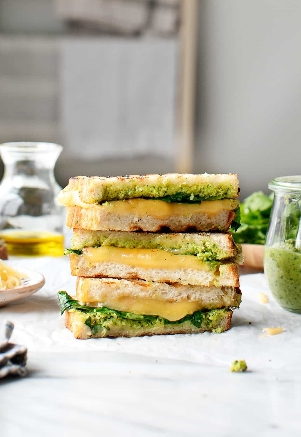 Green Harissa Grilled Cheese