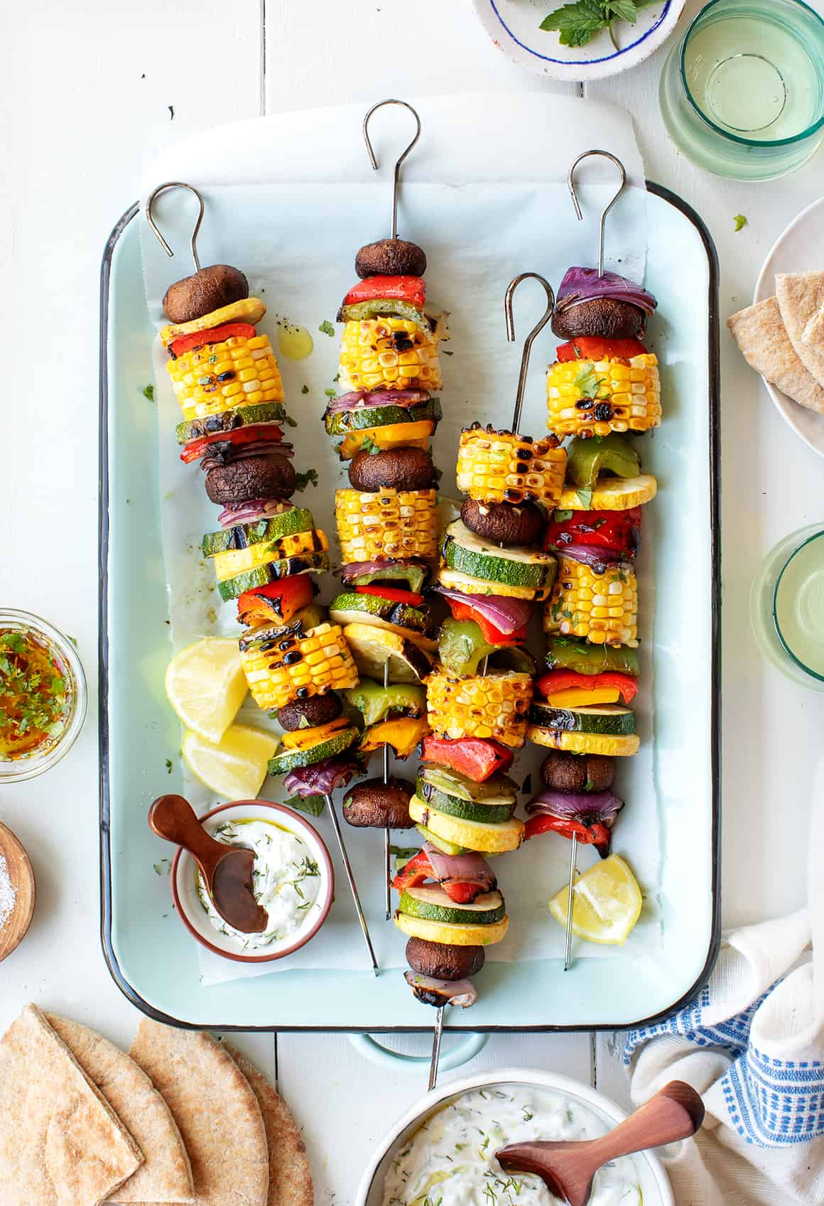 Kabobs with Grilled Vegetables