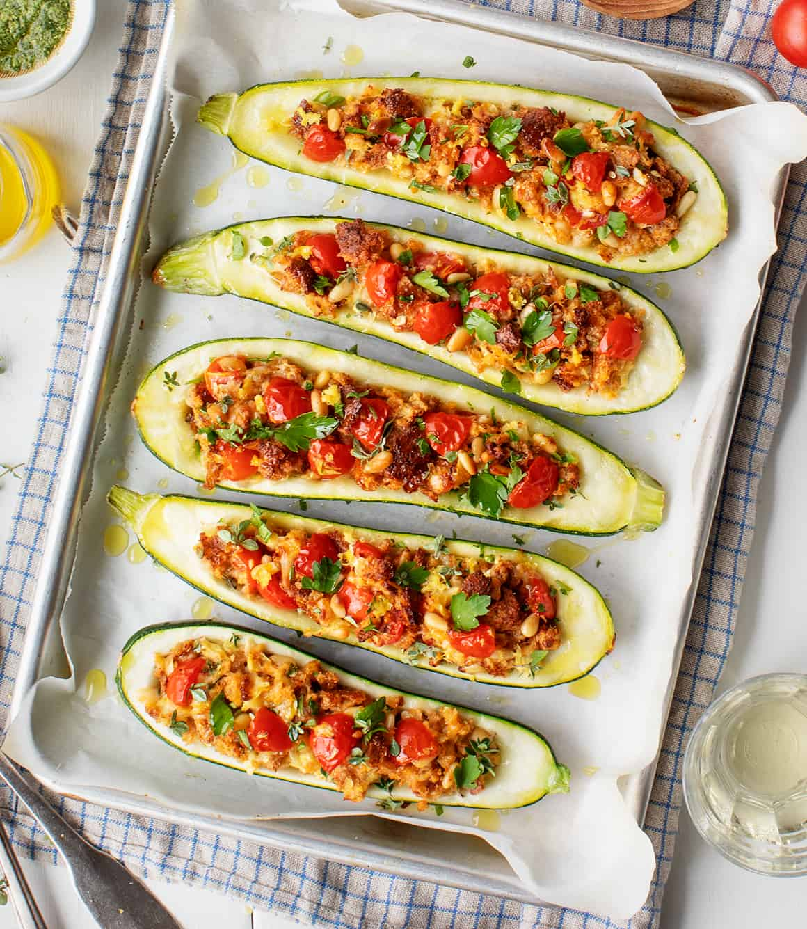 Stuffed Zucchini Boats Recipe Love And Lemons