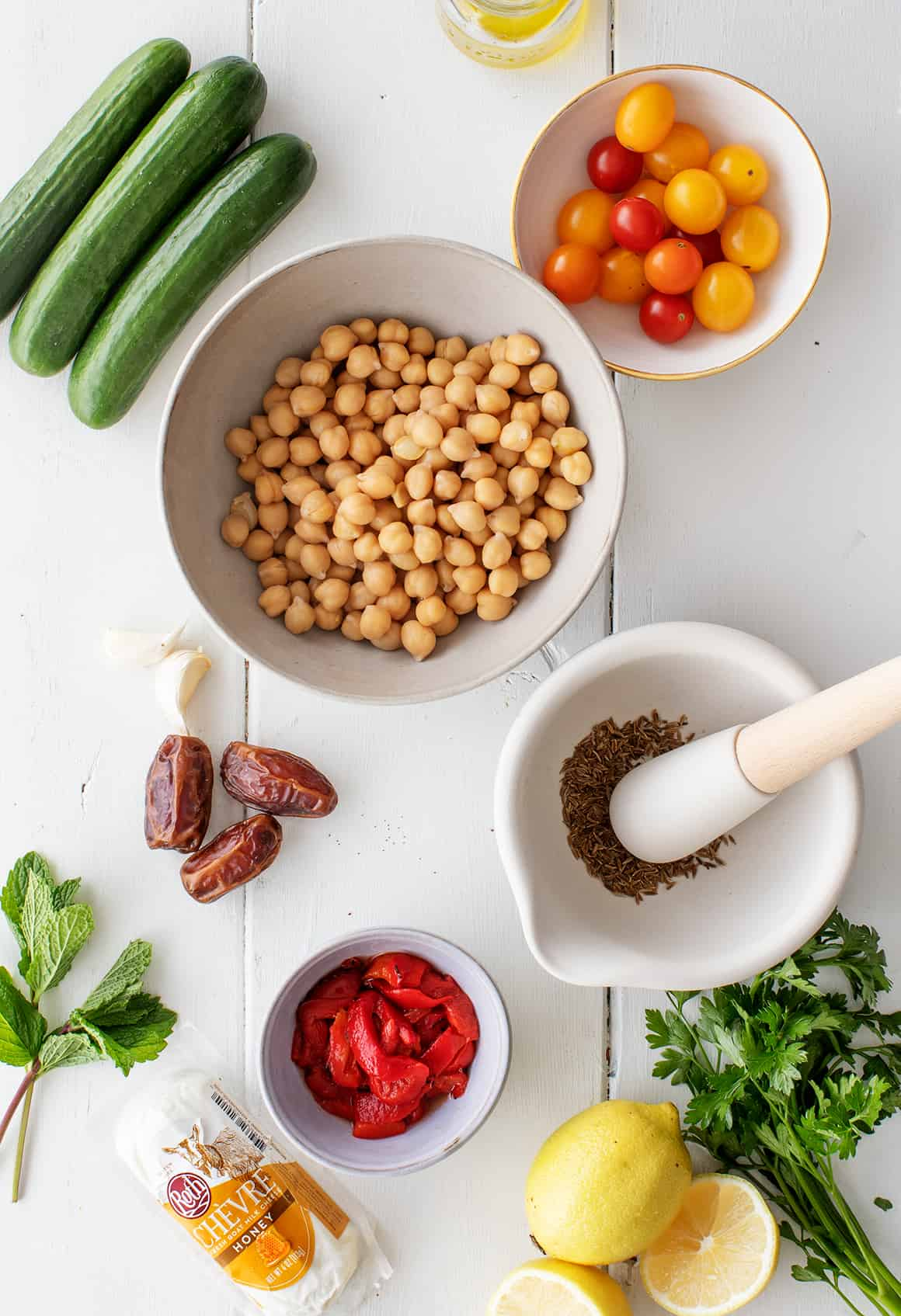 Chickpea salad recipe ingredients