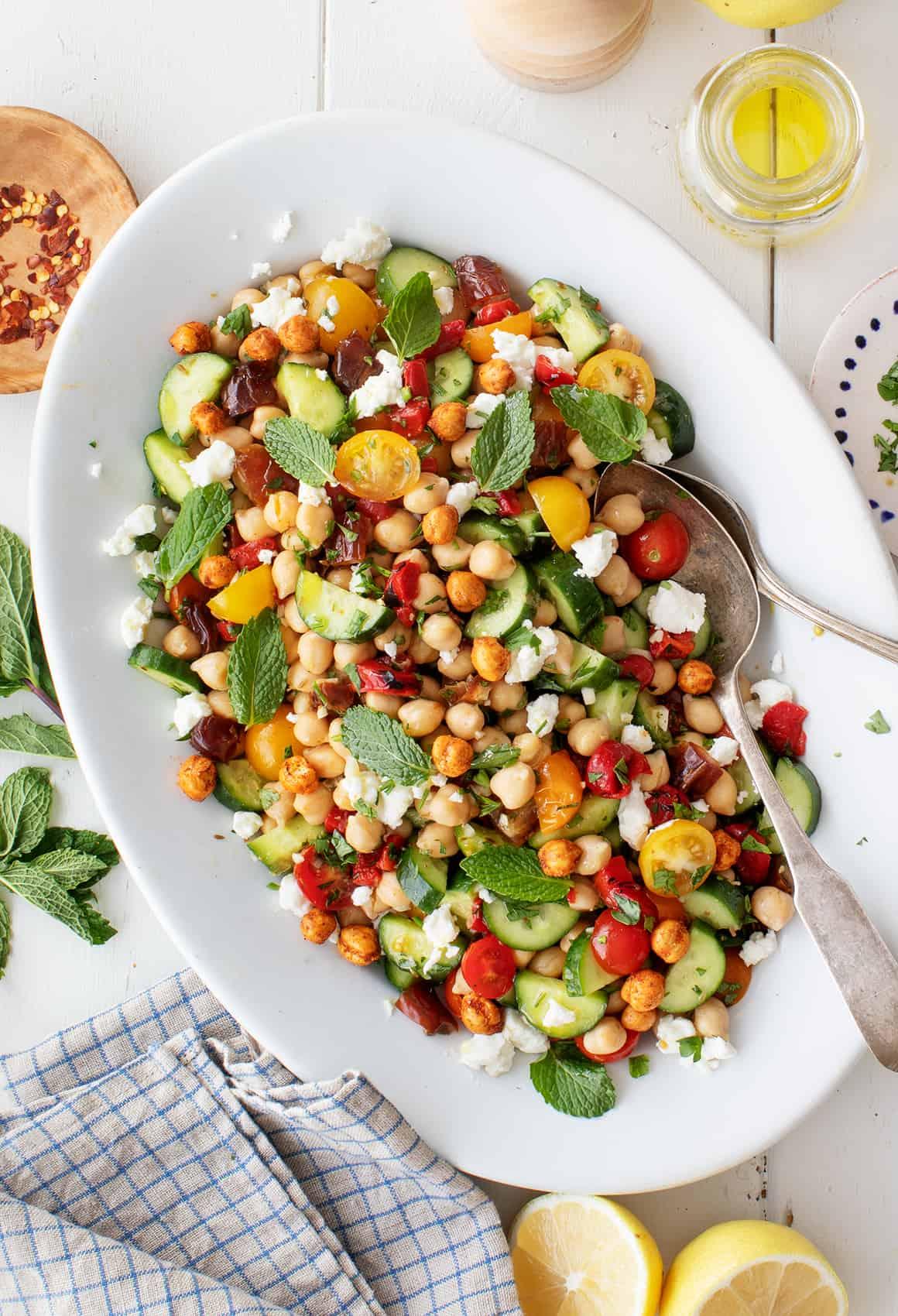 Mediterranean Chickpea Salad Recipe Love And Lemons