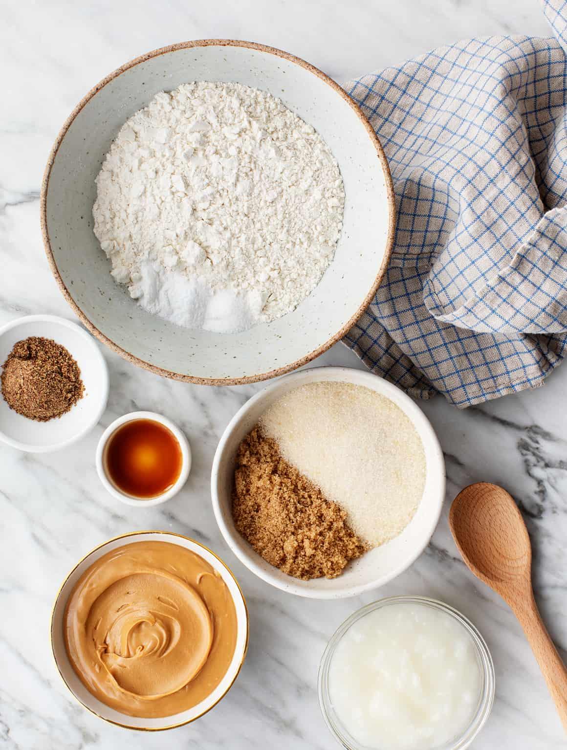 Peanut butter cookie recipe ingredients