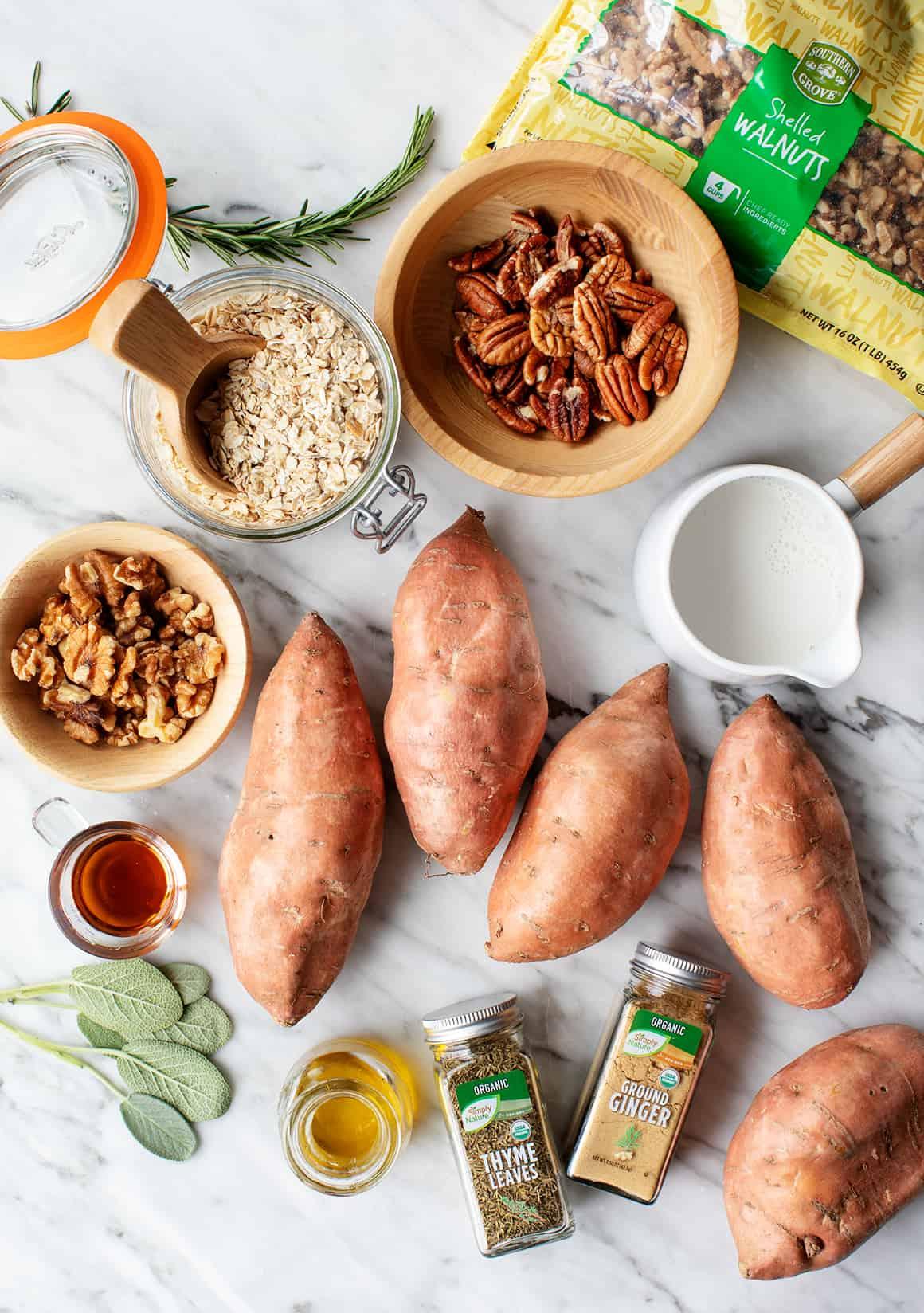Healthy sweet potato casserole recipe ingredients