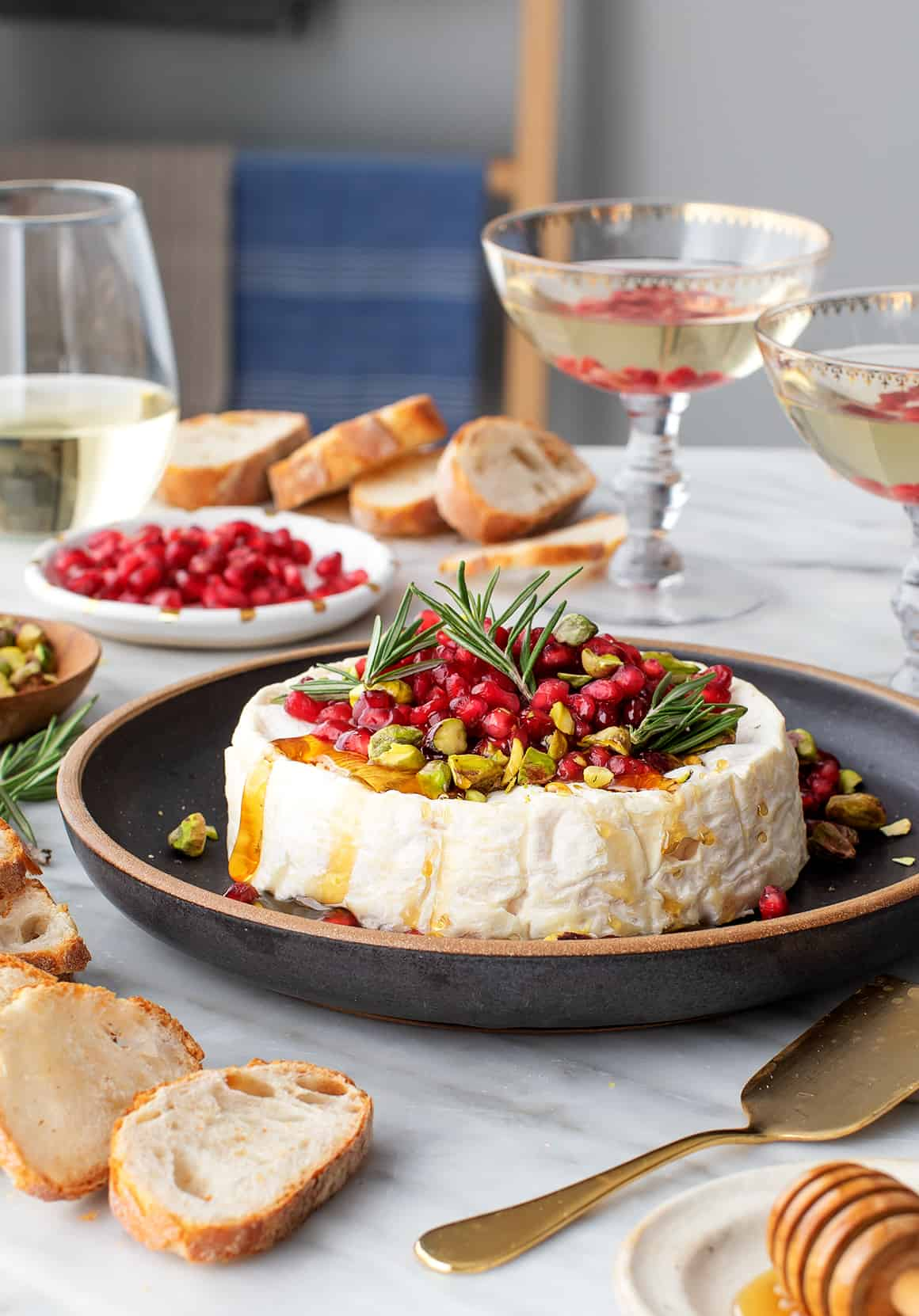 Baked Brie with Pomegranates