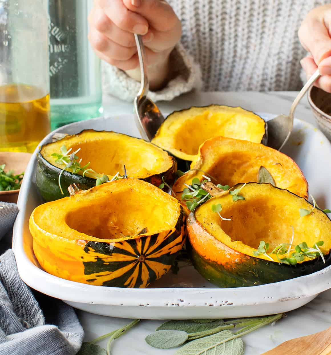 Maple Roasted Acorn Squash Recipe Love And Lemons