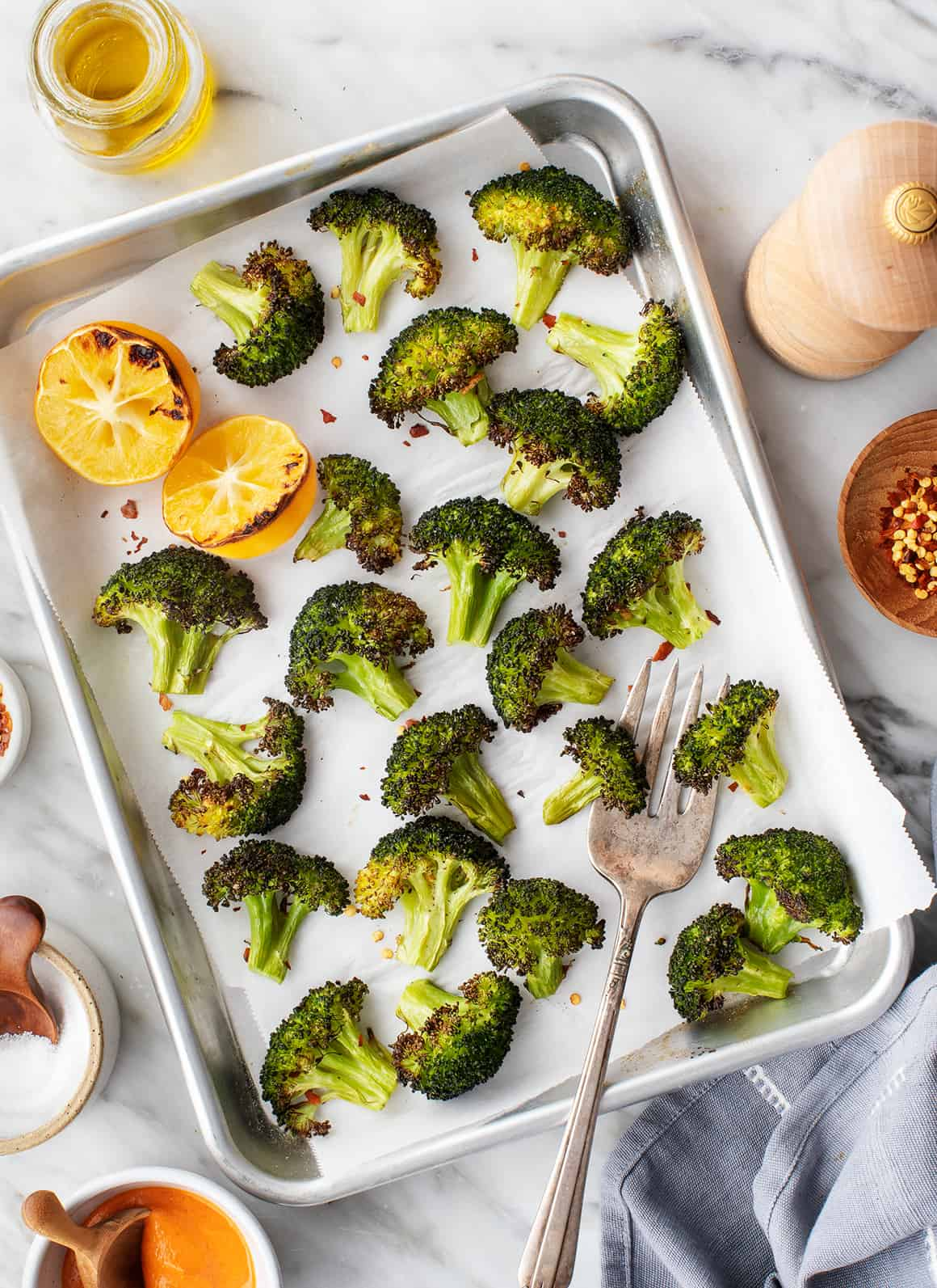 Roasted Broccoli with Meyer Lemon
