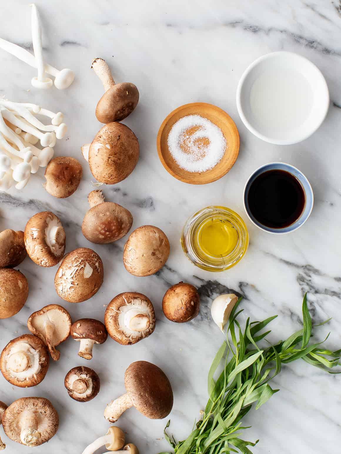 Sautéed mushroom recipe ingredients