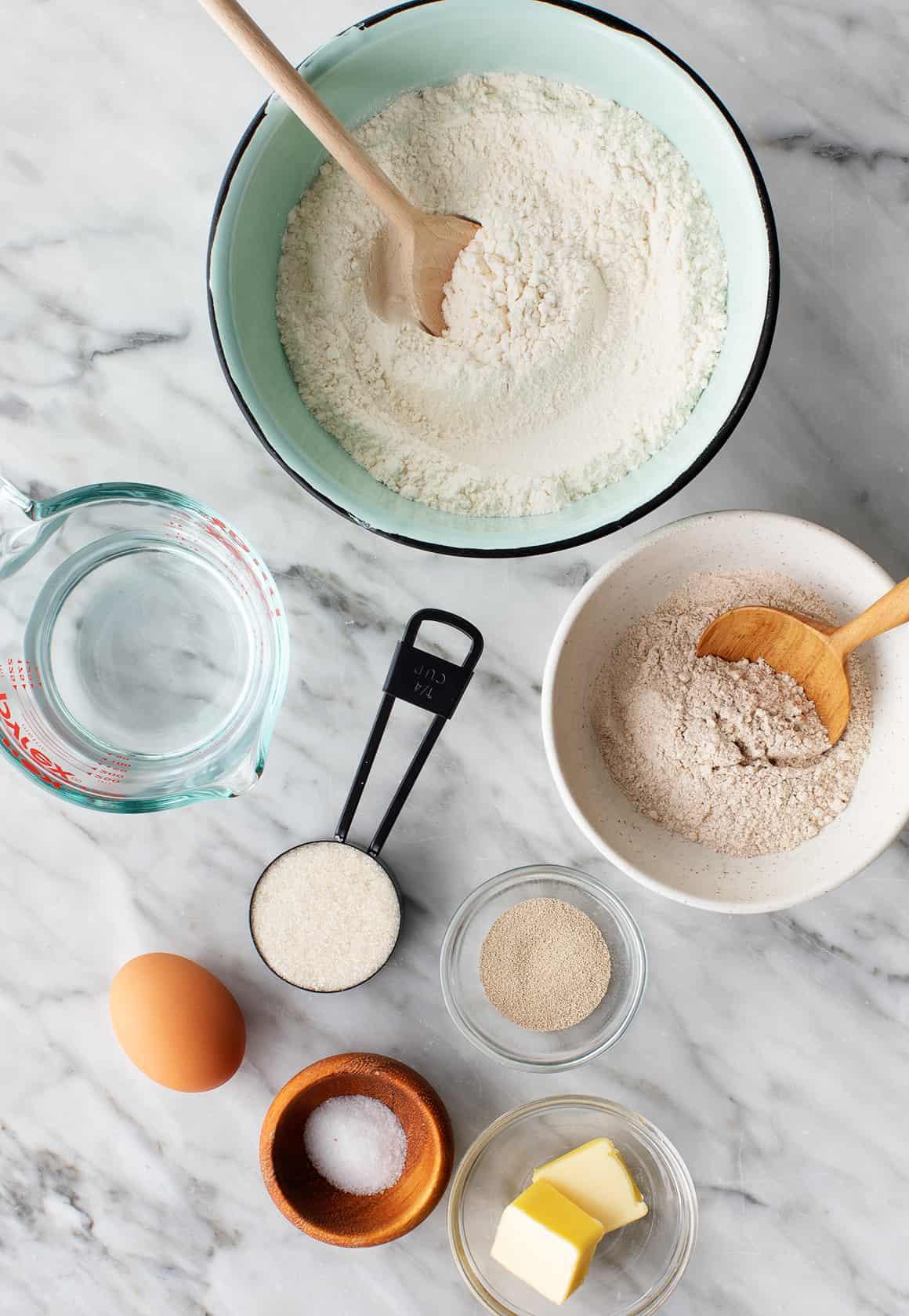 Hamburger bun recipe ingredients