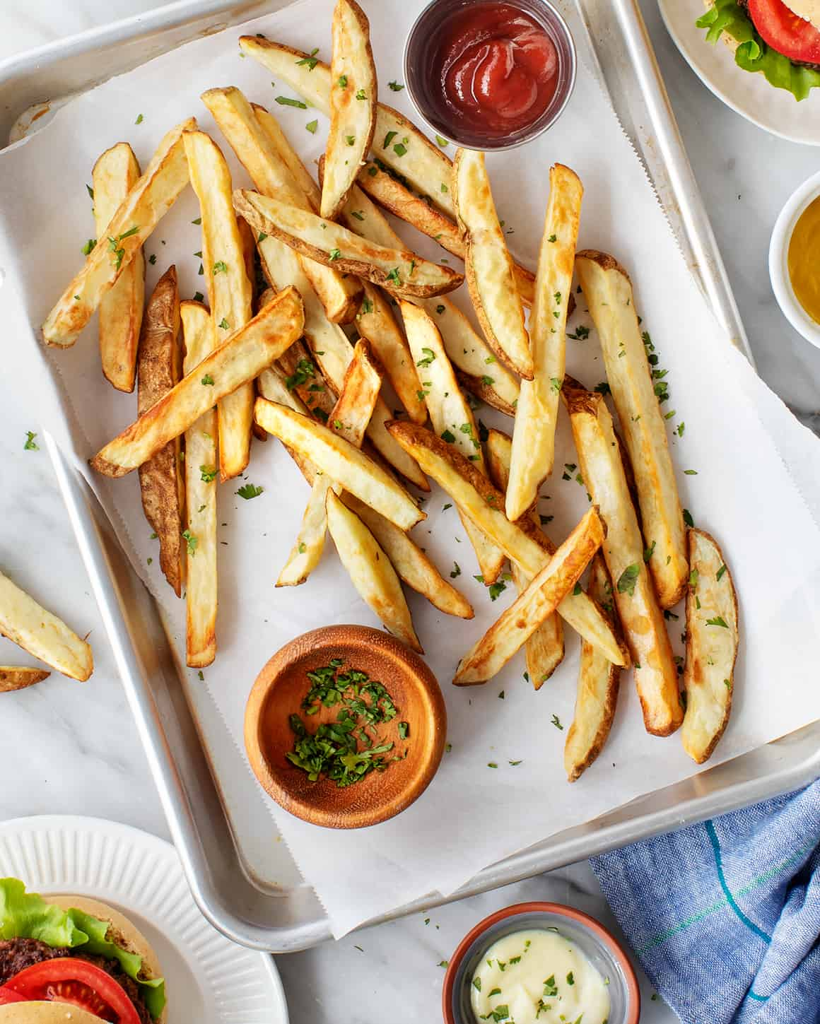 Air Fryer Fries with ketchup
