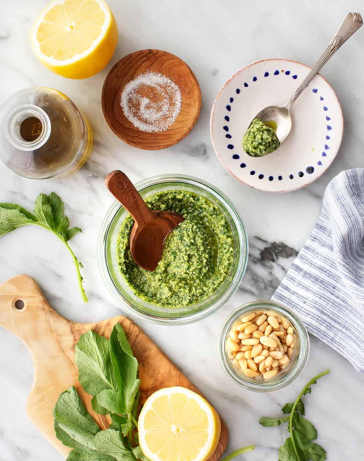 Radish top pesto recipe