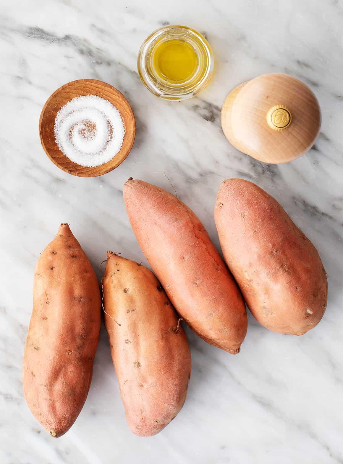 Roasted sweet potato recipe ingredients