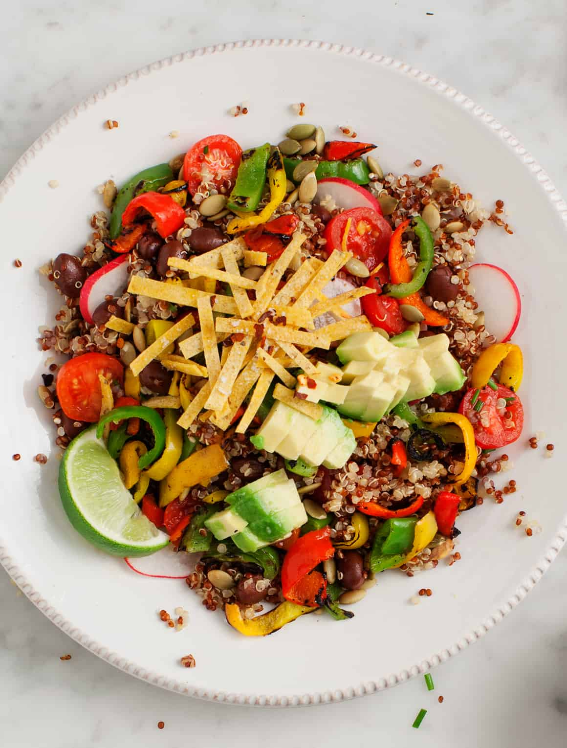 Farro Salad with Grilled Asparagus