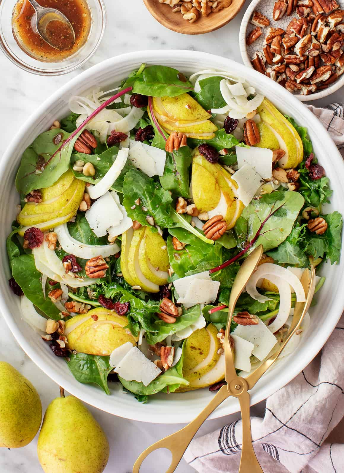 Pear Salad with Balsamic and Walnuts