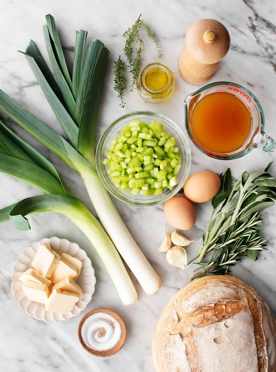 Homemade stuffing recipe ingredients