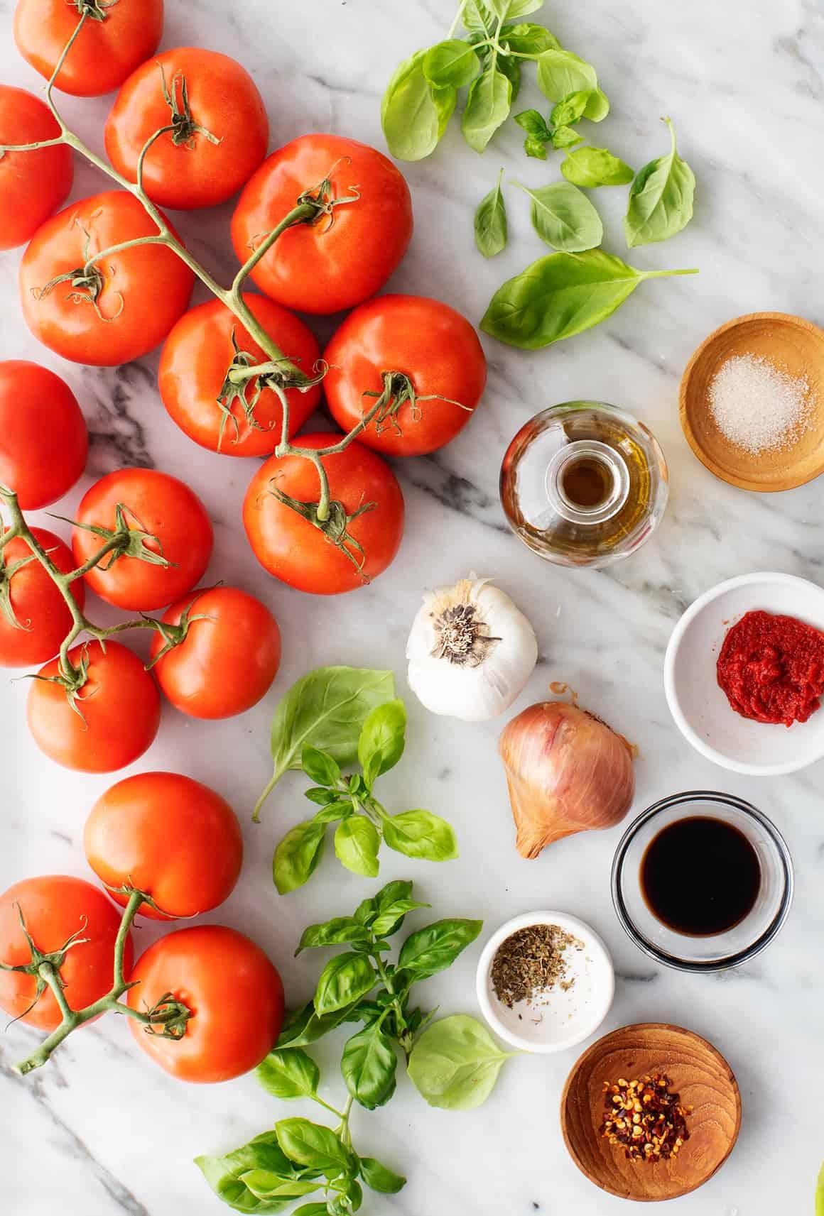 Tomato sauce recipe ingredients